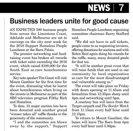 Business leaders unite for good cause