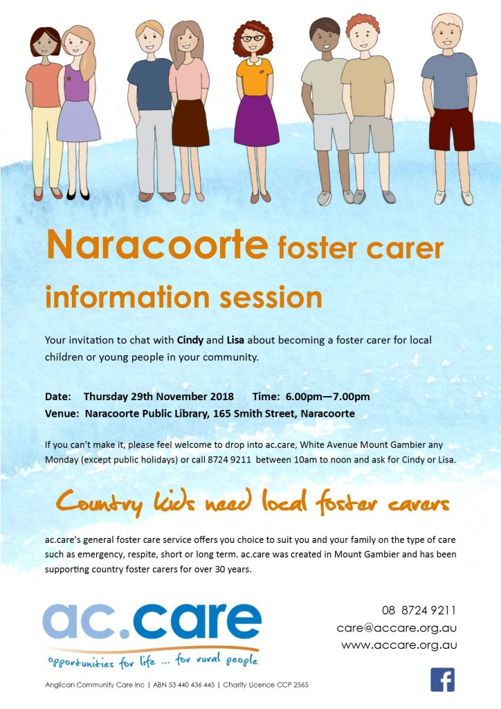 Naracoorte foster carer information session