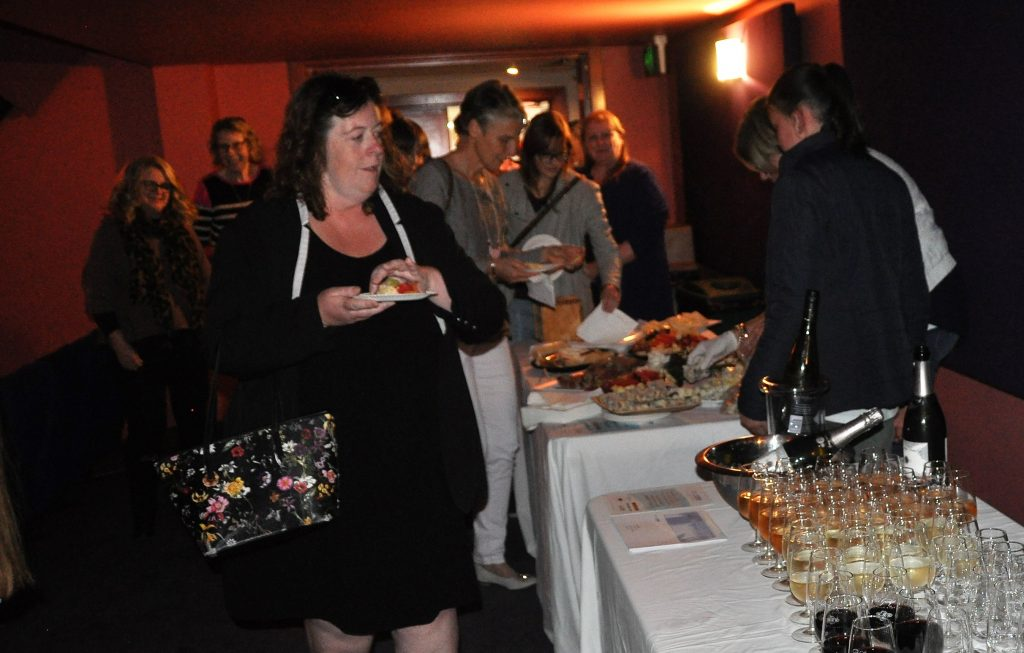 Local businesses donated food and wine to support the ac.care film night.