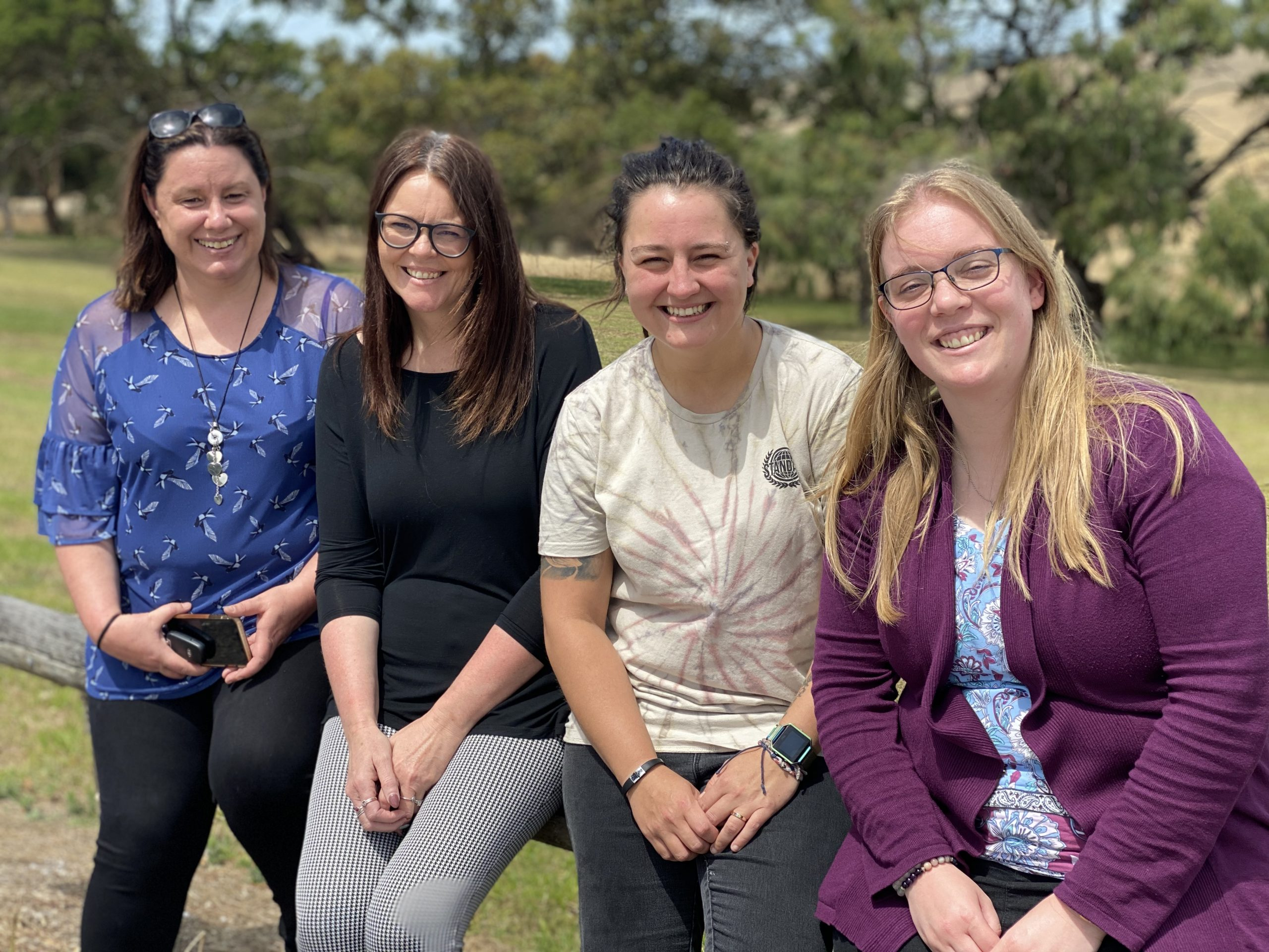 JOIN US TO CARE FOR YOUNG PEOPLE: Mount Gambier residential care home house supervisors Sherri Winter, Lynne Lambert, Maddy Fry and Caroll Saunders are leading a recruitment campaign to attract more residential care workers to support young people.