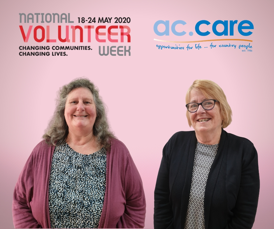COMMITTED TO COMMUNITY: Jenny Morris and Rose Pilven continue to contribute to ac.care as valued volunteers at the Millicent Community Centre at 57-59 George Street.
