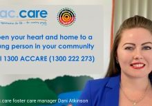 NSPIRED AND GRATEFUL: ac.care foster care manager Dani Atkinson has praised more than 200 couples, families and